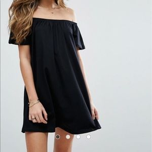 ASOS Black off the shoulder dress